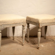 Similar gustavian stools. New paint. Stockholm work. Late 18th century.